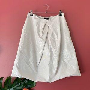 Banana Republic Silver Bubble Skirt
